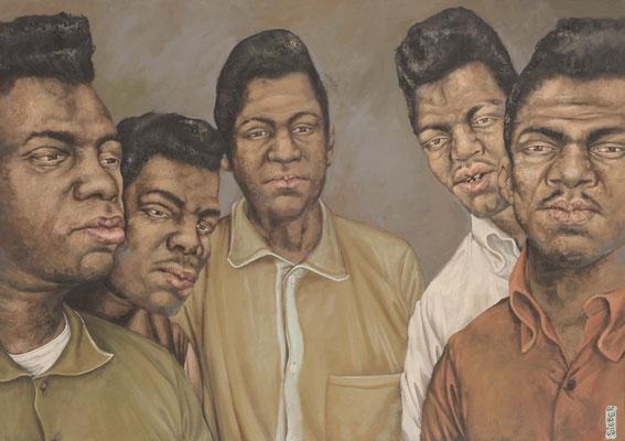 Gemälde 364  Soulmen   Acryl auf Leinw.,2010,    70 x 100 cm