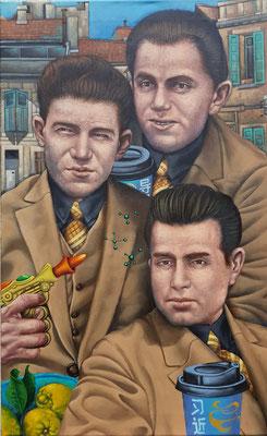 Gemälde 635, Trio Infernal , Acryl auf Leinwand, 2019, 50 x 80 cm