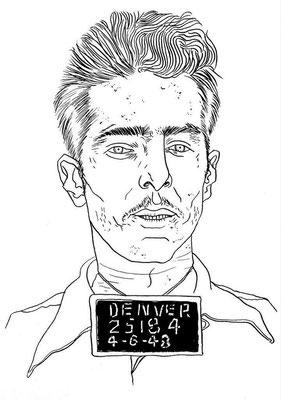 Zeichnung 52  25184  Tusche auf Karton,2006,  24 x 32 cm