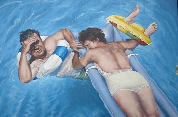 Gemälde 563, Drunter und drüber, Acryl auf Leinwand, 2017, 40 x 60cm