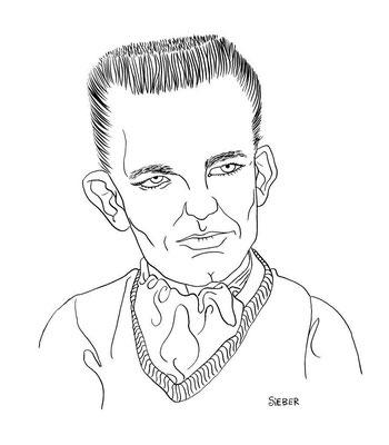 Zeichnung 244 Ronnie Dawson Tusche auf Karton,2009, 25 x 32,5 cm