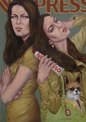 Gemälde 418,  Nespresso  Acryl auf Leinwand,2012,  85 x 120 cm