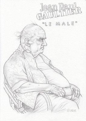 Zeichnung 447  Jean Paul Gaultier  Graphit  auf Karton,2011,  21x30 cm