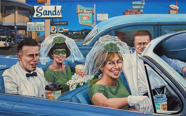Gemälde 603 , Blue Sky, Acryl auf Leinwand, 2018, 100 x 160 cm