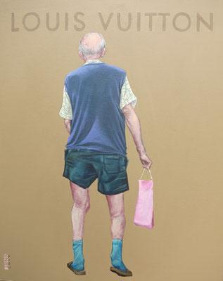 Gemälde  435, Louis Vuitton, Acryl auf Hartfaserplatte,2013,40 x 50 cm