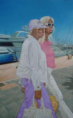 Gemälde 420, Sunshine Girls, Acryl auf Leinwand 2012, 160 x 100 cm