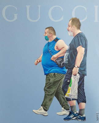 Gemälde 652,GUCCI  Vol 2,Acryl auf Hartfaserplate 50 x 40 cm