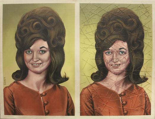 Gemälde 566   Portträt Vol 1,  Acryl auf Leinwand, 2017, 50 x 65 cm