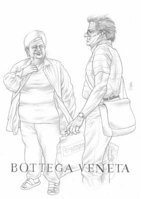 Zeichnung 438  Bottega Veneta Graphit  auf Karton,2011,  30x42cm