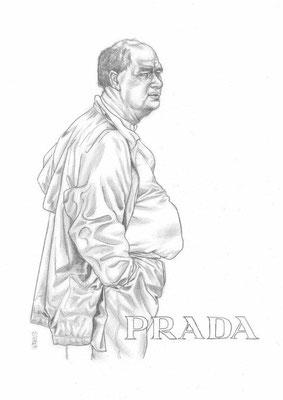 Zeichnung 442  Prada  Graphit auf Karton,2011,  30x42 cm