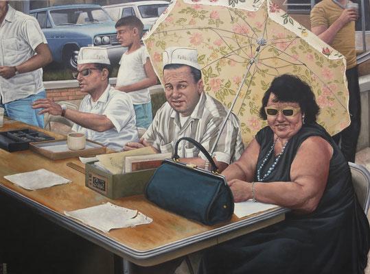 Gemälde 560, Registration, Acryl auf Leinwand, 2017, 86 x 115 cm