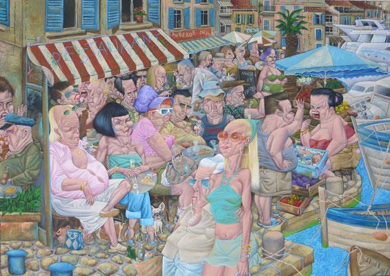 Gemälde  487Moules et Frites , Acryl auf Leinwand ,2015,140 x 100 cm