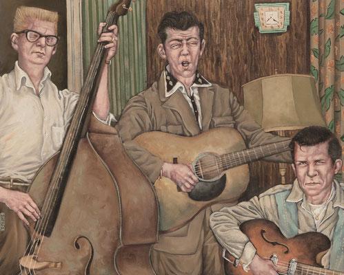 Gemälde 341  House Rocker   Acryl auf Hartfaserplatte,2009,  40 x 50 cm