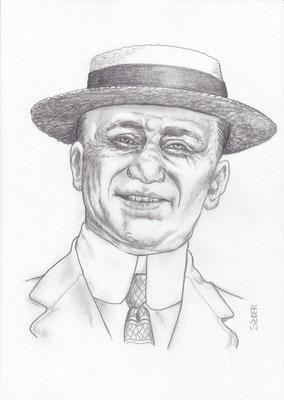Zeichnung 427  Jack Zelig  Graphit  auf Karton  21x30 cm