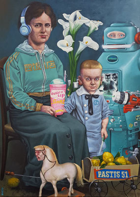 Bubble up ,Acryl / Öl auf Leinwand, 2018, 65 x 90 cm