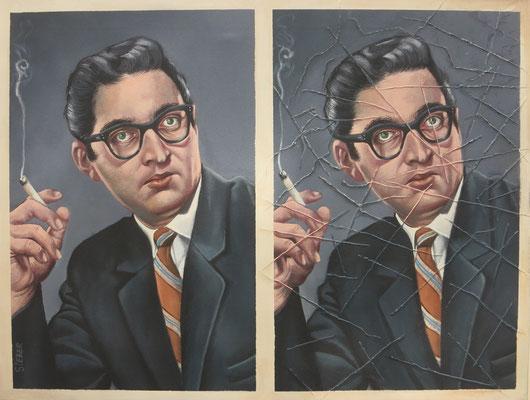 Gemälde 567   Portträt Vol 2,  Acryl auf Leinwand, 2017, 50 x 65 cm