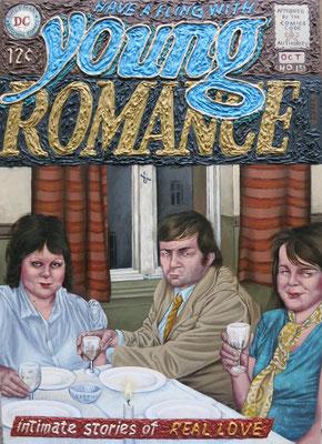 Gemälde 503,Young Romance, Acryl auf Hartfaserplatte ,2015, 50 x 70 cm