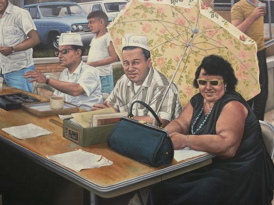 Gemälde 560, Registration, Acryl auf Leinwand, 2017,86 x 115 cm