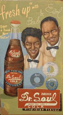 Gemälde 394  Dr. Soul   Acryl auf Pappe ,2010,67 x 118 cm
