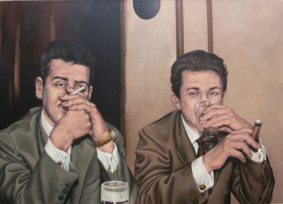 Gemälde 559, Im Visier, Acryl auf Leinwand, 2017, 85 x 120 cm
