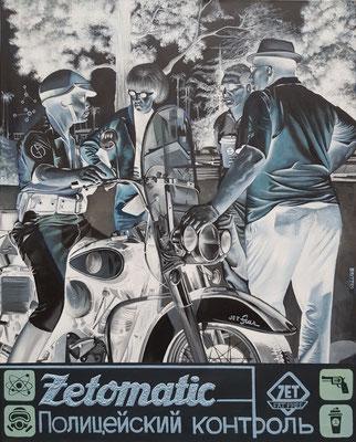 Gemälde 684,ZETOMATIC ,Acryl auf Leinwand,2021, 80 x 100 cm
