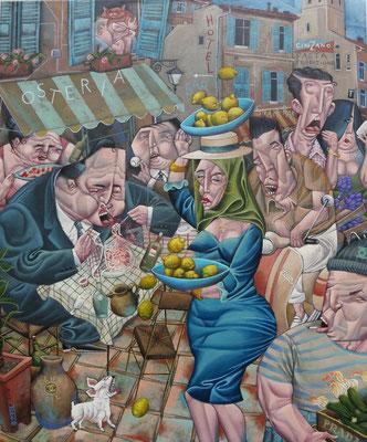 Gemälde  517. Zitronenernte Vol. 2 ,Acryl auf Leinwand, 2016, 66 x 80 cm