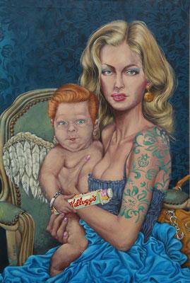 Gemälde  443  ,Trust Us !   Acryl auf Leinwand,2013, 120 x 80 cm
