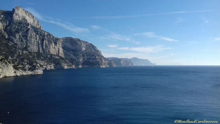 Vue sur le Cap Canaille - la plus haute falaise maritime d'Europe