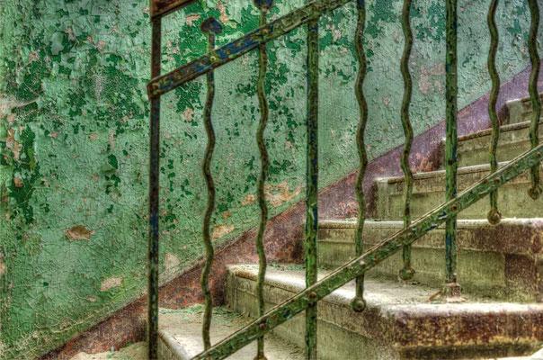 Treppe grün