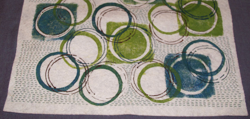 Impressionen aus dem Workshop «Sticken»