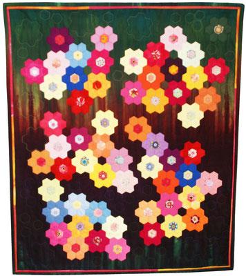 Ursula Knecht - Blumengarten in der Nacht