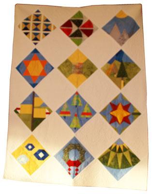 Antoinette Wohlwend, Block of the Month der Modern Quilters mit Schweizer-Motiven