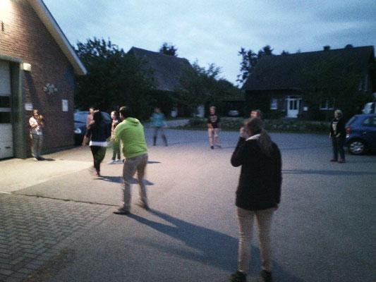 beim abendlichen Ballspiel;)