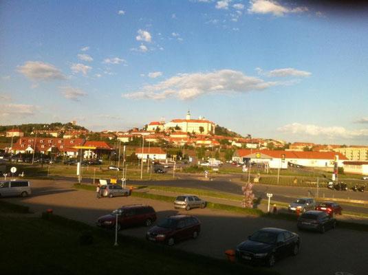 Blick auf Nikolsburg mit Schloß