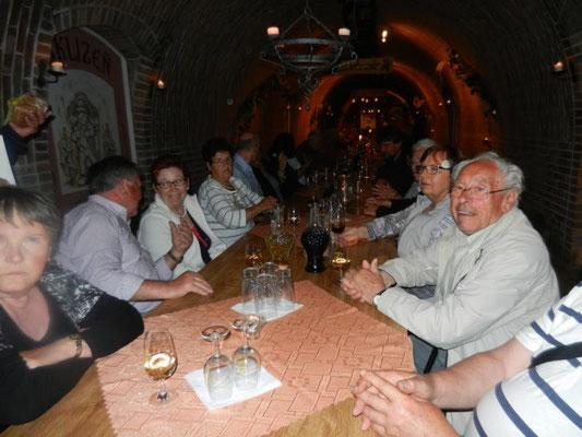 Im Weinkeller vom Hotel Zamecek in Nikolsburg