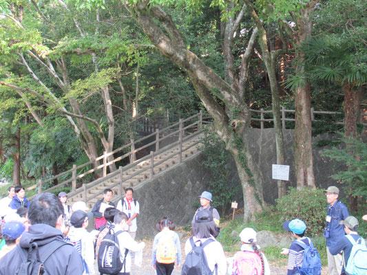 淸水山公園:本日の活動について説明