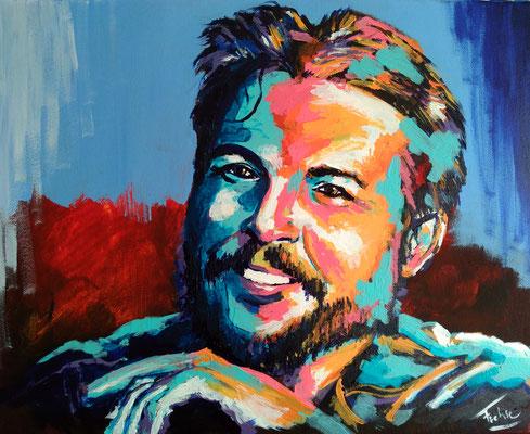 CHE     Acrylic  on Canvas 50x40 cm  