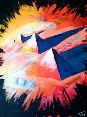 PYRAMIDS OF GIZA   | Acryl on Canvas 60x80 cm |