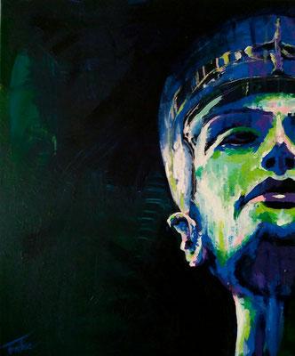 DARK NOFRETETE     Acrylic  on Canvas 50x60 cm  