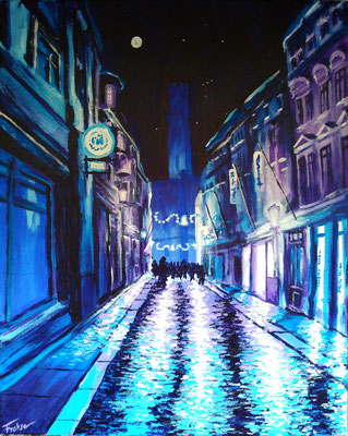 ZITTAU NIGHTTIME   | Acryl on Canvas 40x50 cm |