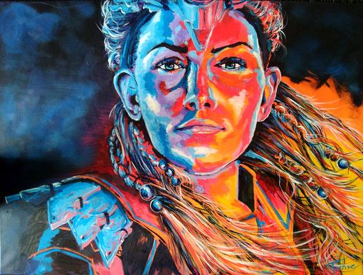 ALOY BONFIRE     Acrylic  on Canvas 80x60 cm  