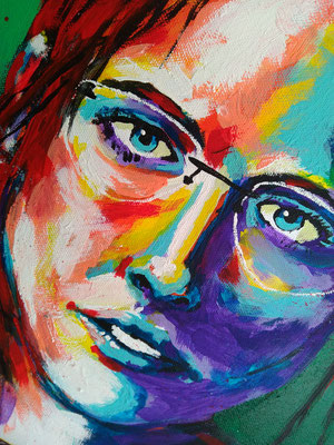 MARGARET   | Acrylic  on Canvas 40x50 cm |