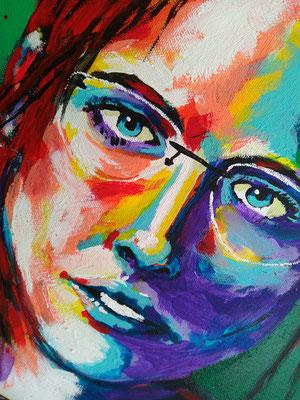 MARGARET     Acrylic  on Canvas 40x50 cm  