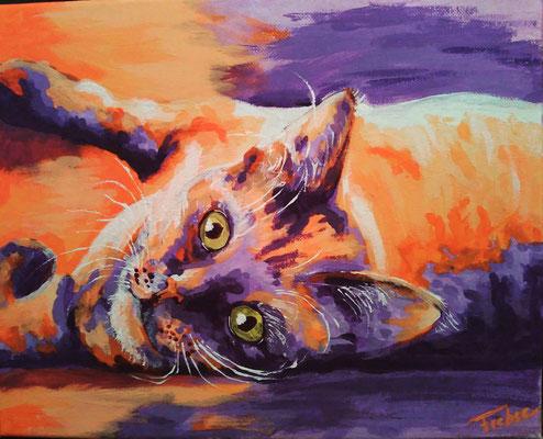 KATER     Acrylic  on Canvas 24x30 cm  