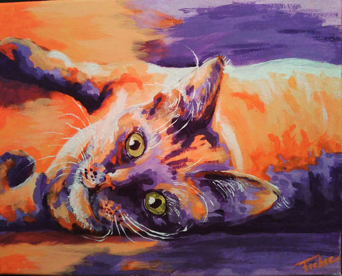KATER   | Acrylic  on Canvas 24x30 cm |