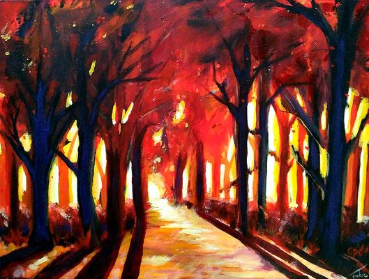 HERBSTWALD   | Acryl on Canvas 80x60 cm |