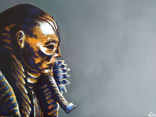 ANCIENT PHARAO   | Acrylic  on Canvas 40x30 cm |