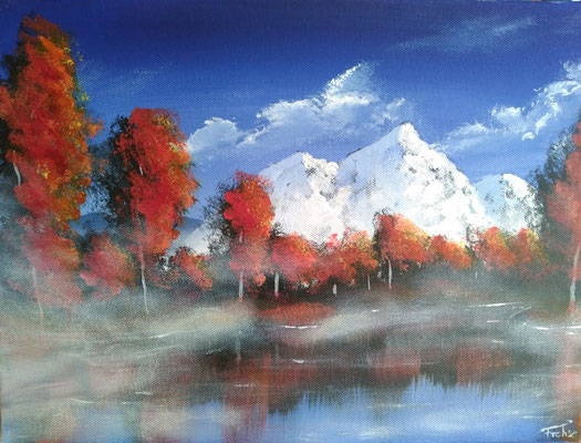 AUTUMN SEA   | Acryl on Canvas 40x30 cm | Reference-Picture by Mustafa Jannan