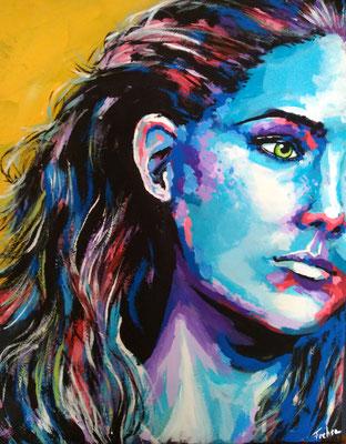 IN GEDANKEN     Acrylic  on Canvas 40x50 cm  