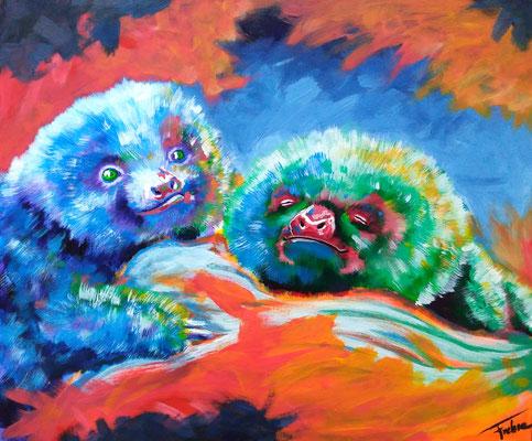 SLOTH BOYS  | Acrylic  on Canvas 70x50 cm |
